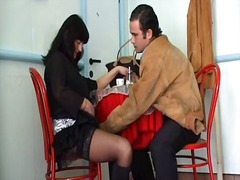 Horny mature brunette ... video