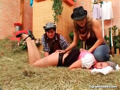 Cowgirls and farm girl in ... - 04:13