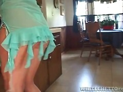 Housewife in kitchen t...