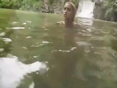Hot nude girls cliff jumping!