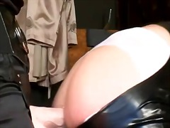 Sissy strapon fucked w... video