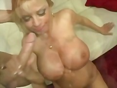 Blonde milf with enormous boobs