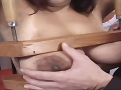 Thumb: Large tits get tied up...