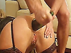 FRENCH WIFE ANAL FISTING , BOTTLE and...