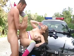 Blonde hot babe gets h... video