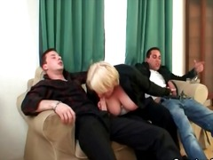 threesome, drunk, mature, handjob,