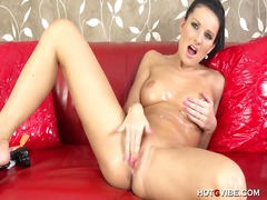 PornerBros - Euro babe squirts on h...