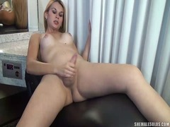 masturbation, chick, transsexual, erect, jerking, dick, stroke, tranny, video, transvestite, cock, tgirl
