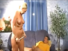 German blonde mommy en...