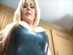 Blonde dominatrix in l...