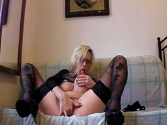fingering, stockings
