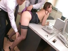 office, japanese, threesome