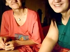 big beautiful woman beauty and her granny on cam