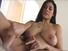 facial, mother, tease, brunette, rubbing, ass, tattoo, milf, fingering, handjob