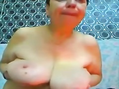 Giant and Saggy Gran on Webcam