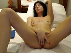 Mastubating milf video