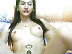 Hot tranny shows her s...