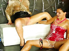 Laetitia and candy blond bukkake at gloryh...