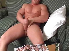 Chubby solo guy jerking off