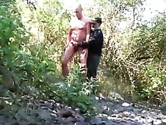 Shameless outdoor wanking