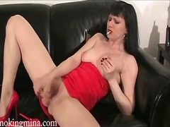Horny milf mina getting her pussy fuc...