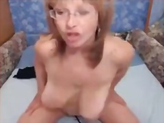 hottie, granny, riding, vibrator