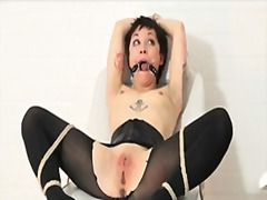 bondage, fetish, tattoo, kink, asian, extreme, tied, petit, kinky, torture, slave, domination, gagging