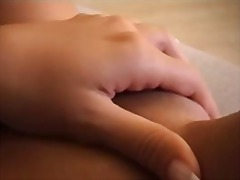 Fingering shaved meaty... video