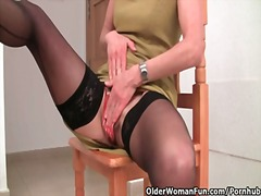 Thumb: Granny in stockings wo...