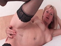 Cute blonde mature mod... video