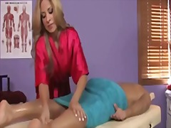 Huge dick gets massage... video