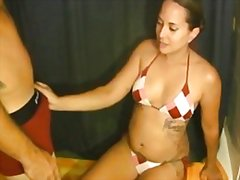 Thumb: Bikini handjob and cum...