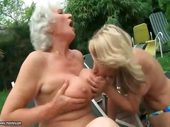 mature, old, lezzy, seduced, grandma