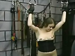 Nipple punishment video