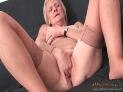 Alpha Porno - Granny strips to stock...