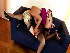 See: British stockings lesb...