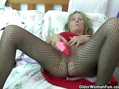 masturbation, strip, stockings, grandma, fat, toy, toys, mature, old, milf, busty, vibrator, grandmother
