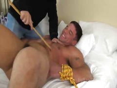 BoyFriendTV Movie:Bound guy gets feet tickled