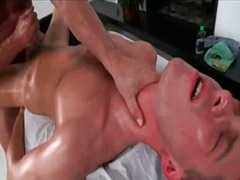 Hot gay guy gets creamed during fuck