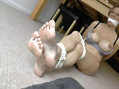 British slut gets tied up