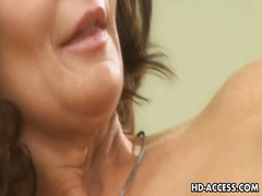 brunette, milf, boobs, fingering,