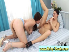See: Two hot hairy lesbians...