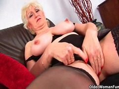Granny with big tits f... video
