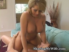 milf, foreplay, blonde, wife, brook