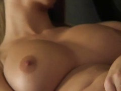 busty, strip, toys, blonde, tease, babe, uniform, masturbation, fingering, dildo
