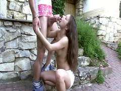 Blowjob in the garden preview