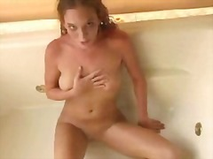 Girl orgasms in bathtub