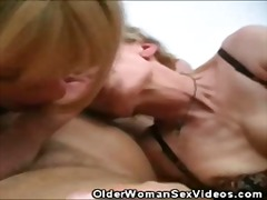 mature, group, threesome, granny,