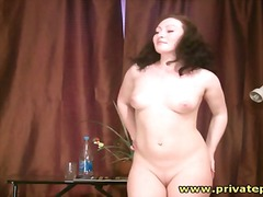 Alpha Porno - Naked girl poses for n...