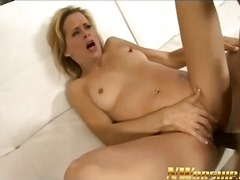 Hot mom milf enjoys bi...